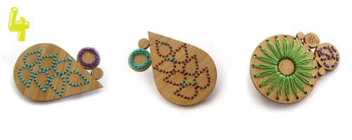 Noshii wooden brooches1  Jewelry finds: my today's top 5