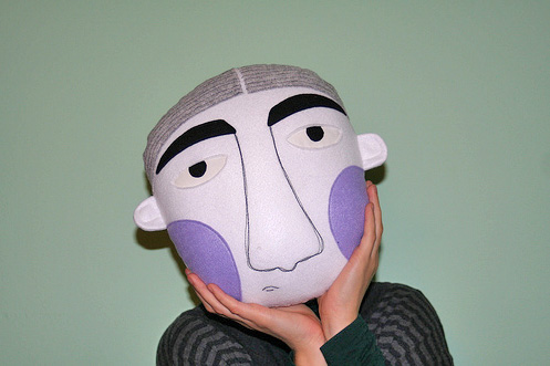 pillow3  Face pillows by Paola Colombo