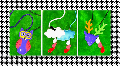 222  Plush jewelry by Mannequin Plastic