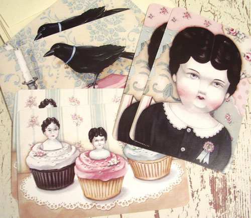 cards  Sweet vintage by Jenny and Aaron