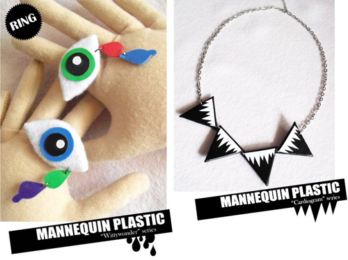 coppia  Plush jewelry by Mannequin Plastic