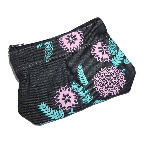 BF X CM pleated purse pink aqua side Copy1  Bonbi Forest and Custom Made at Craftacular (London)