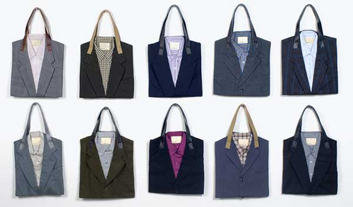Recycled Suit Totes by freshlyblended  Inspirational finds