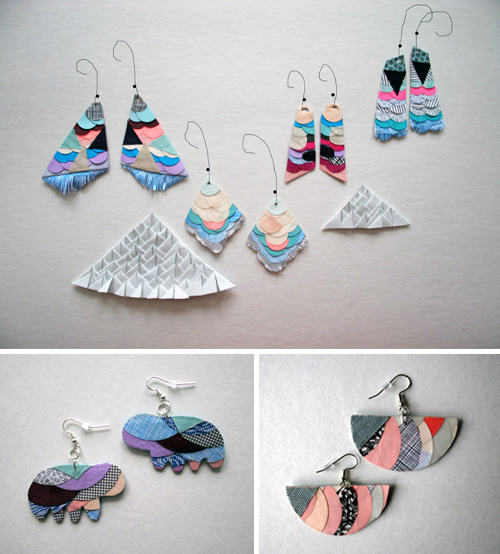 paper earrings  Essimar (Esther Ramirez)