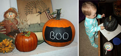 OK chalk pumpkins by thrumypeepers  15 ideas and tutorials for your crafty pumpkins