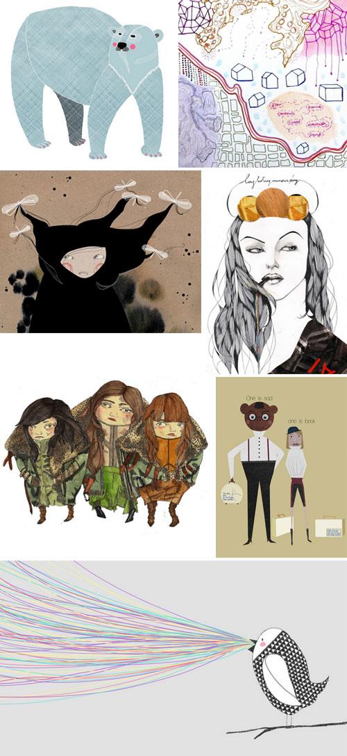 tile3  IB Flickr Group picks: Amazing illustration's works