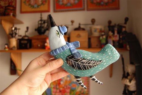 Bird by Natalya Sots  Natalya Sots: a world of ceramics and colors