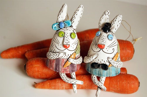 Bunny bells by Natalya Sots  Natalya Sots: a world of ceramics and colors