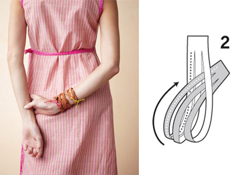mystery braided leather cuff by MarthaStewart  10 DIY tutorials for the most fashionable bracelets of the moment