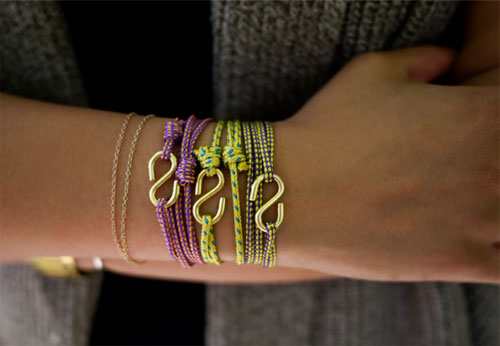 rope bracelet by honestlywtf  10 DIY tutorials for the most fashionable bracelets of the moment