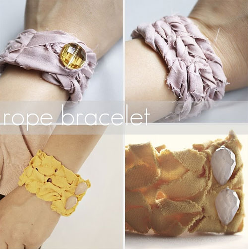 rope bracelets by sewcraftcreate  10 DIY tutorials for the most fashionable bracelets of the moment