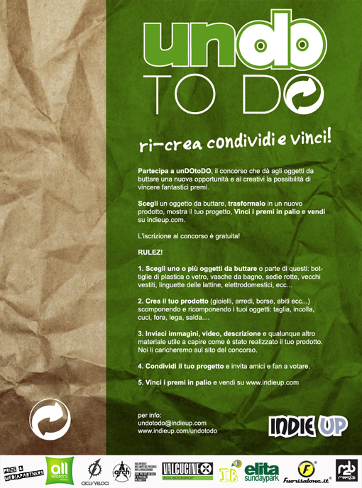 UNDOTODO flyer web copia  UnDoToDO &#8211; The Creative Contest at IndieUp