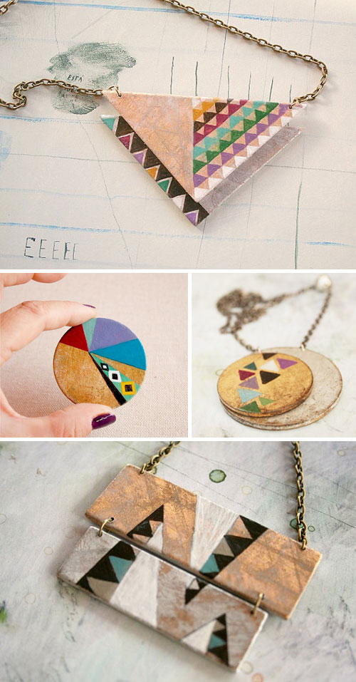 vickygonart  Geometric Wow series: Jewelry