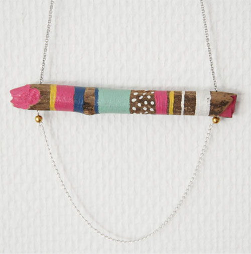 wood connected necklace VI by Lovisa Lindstrom  Wood connected collection by Lovisa Lindstrom