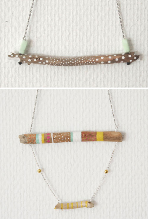 wood connected necklaces by Lovisa Lindstrom2  Wood connected collection by Lovisa Lindstrom