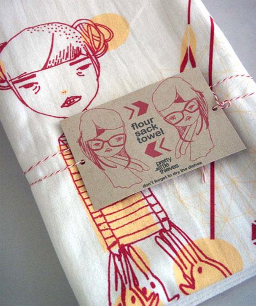 prettylittlethieves dish tea towel  Pretty Little Thieves