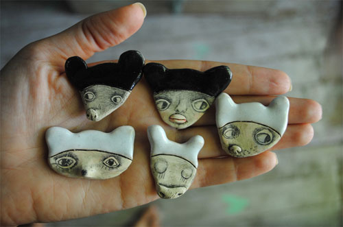 Clay brooches by Denitsa  Clay brooches and Denitsa's world