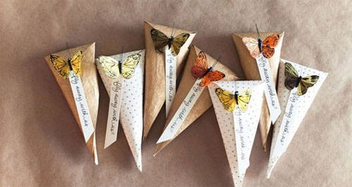 DIY butterfly paper bags packaging by ohcrafts  DIY packaging ideas + tutorials