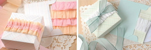 DIY ruffled crepe paper streamers packaging by lorajeans magazine  DIY packaging ideas + tutorials