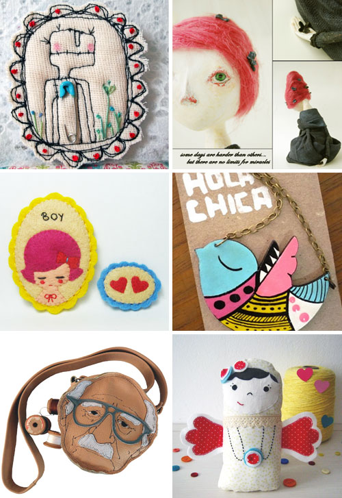 Handmade characters Picks of the week from the IB group  IB Flickr Group picks: Loving handmade characters!