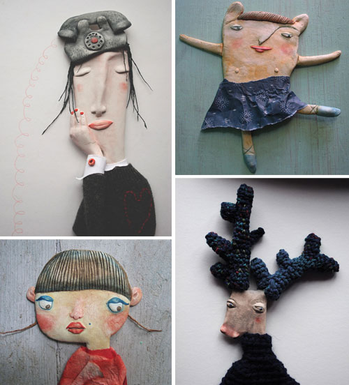 Handmade creations by Denitsa  Clay brooches and Denitsa's world