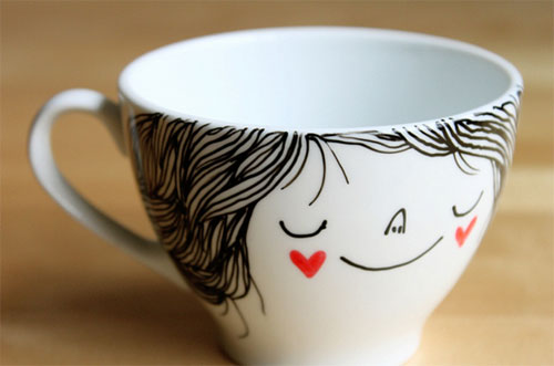 Illustrated tea coffe cup by By Heidi Burton  IB Flickr group picks: Merry Christmas (and a hot cup of tea)!