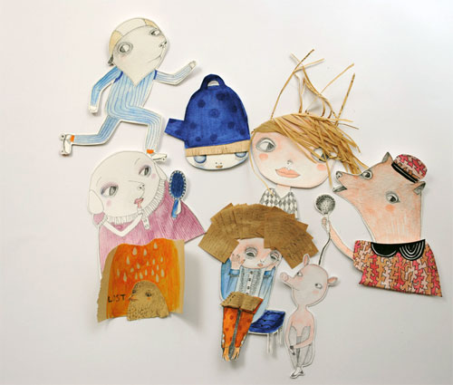 Illustrations by Denitsa  Clay brooches and Denitsa's world