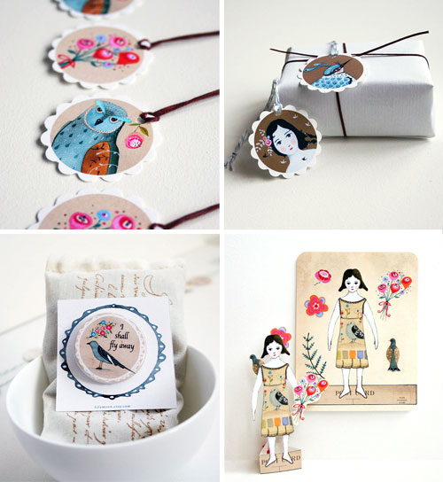 Lily Moon collage of illustrated creations  Lily Moon and her illustrated tiny things