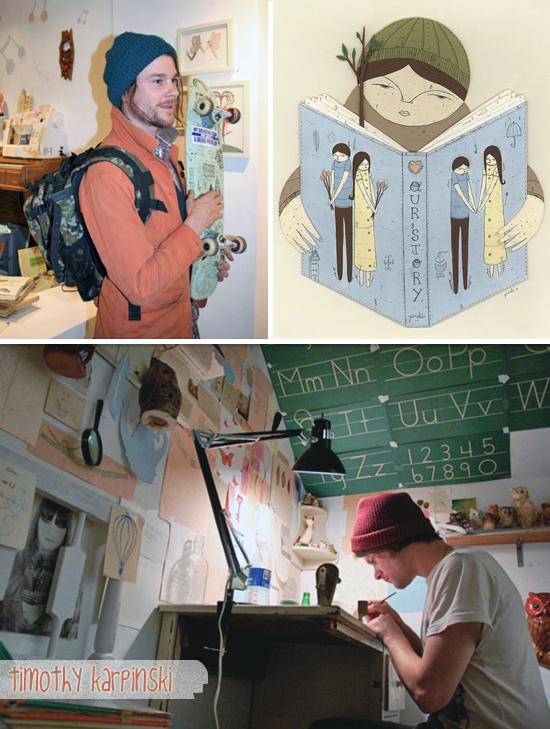 Timothy Karpinski illustrations and papercut works1  Illustrations and papercuts works by Timothy Karpinski