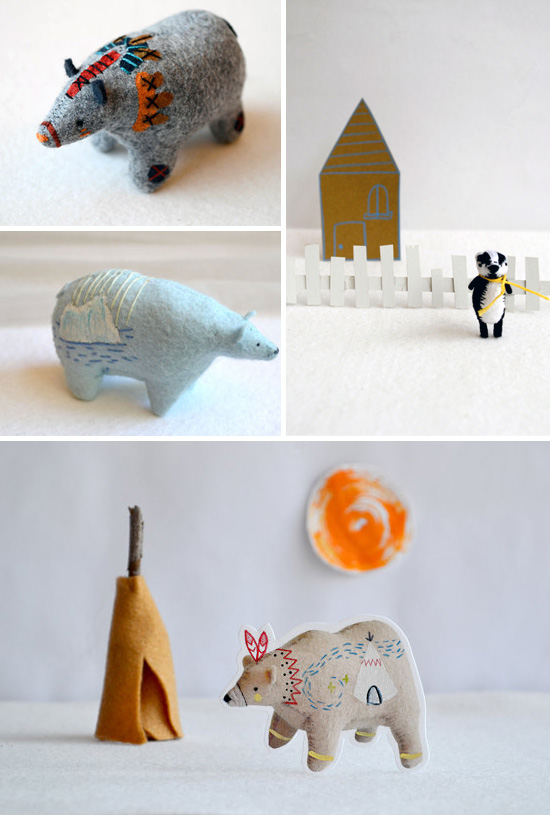 Felt sculptures and handmade creations by Royalmint  Felt creations and curious animals by Royalmint