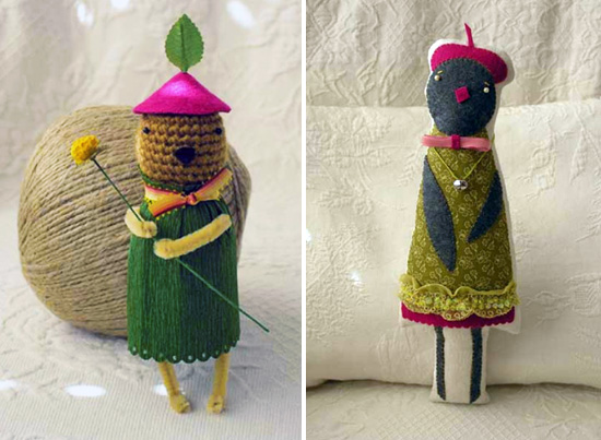 Handmade cute dolls by Sweetnellie Imaginative Bloom Flickr group  IB Flickr Group picks: The sweetness of handmade dolls