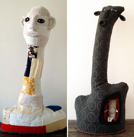 Visual artist Cecile Perra Handmade puppets 2  Visual artist Cecile Perra