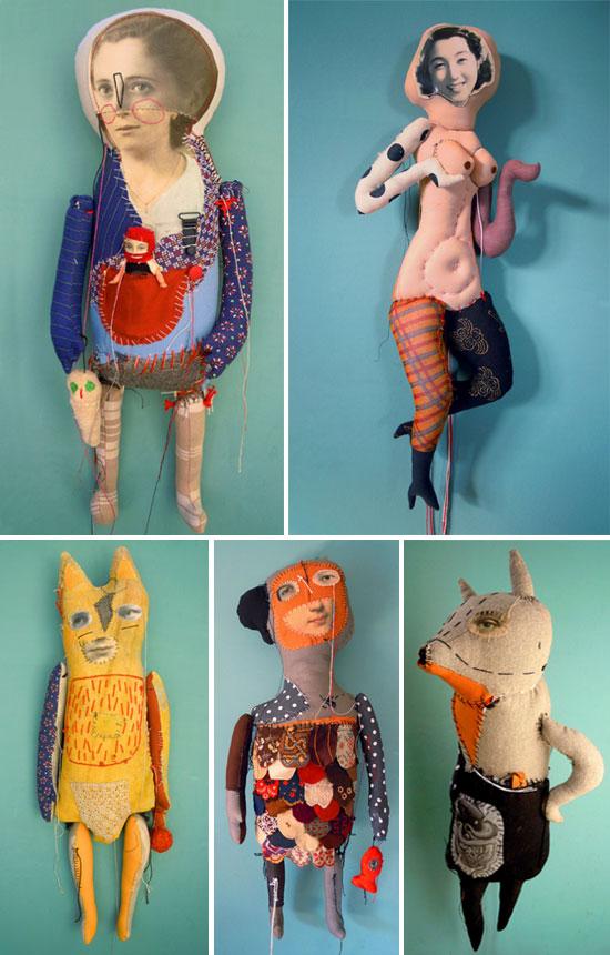 Visual artist Cecile Perra Handmade puppets  Visual artist Cecile Perra