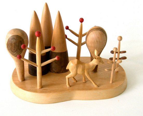 Wood sculpture by pipapiep  IB Flickr Group picks: Red Spots