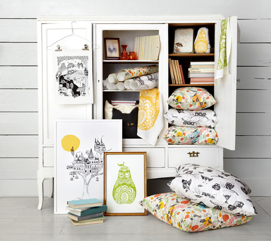 Handmade home accessories from Sweden by Mini Empire1  Illustrated design from Sweden by Mini Empire