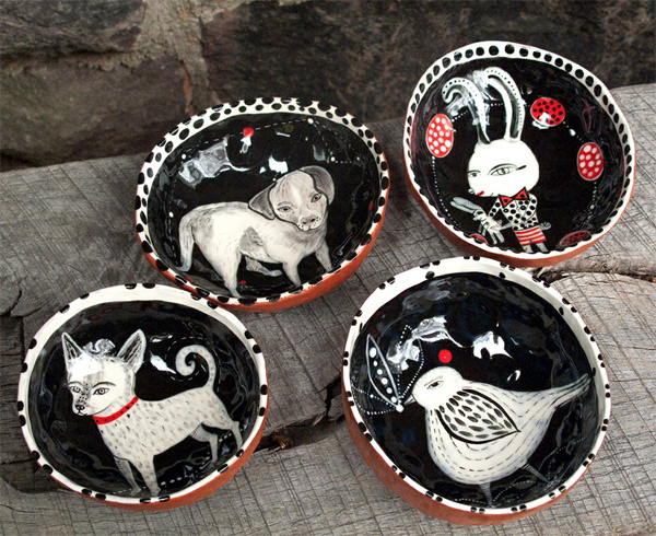 Ceramic bowls by Jenny Mendes  Endless creativity on Jenny Mendes's ceramics
