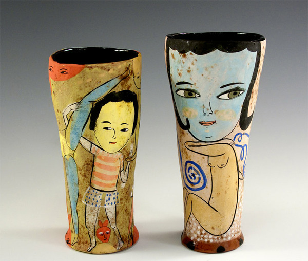 Ceramic vases by Jenny Mendes Imaginative Bloom  Endless creativity on Jenny Mendes's ceramics