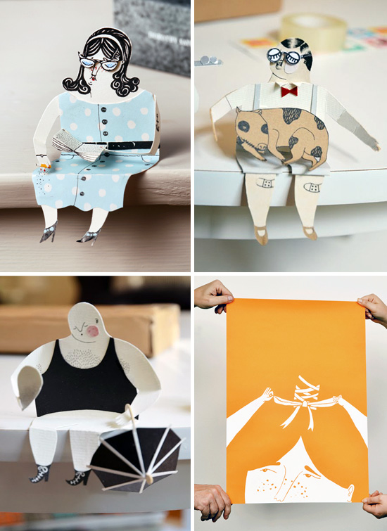 Paper characters art by Malin Koort  Malin Koort illustration and grafic design