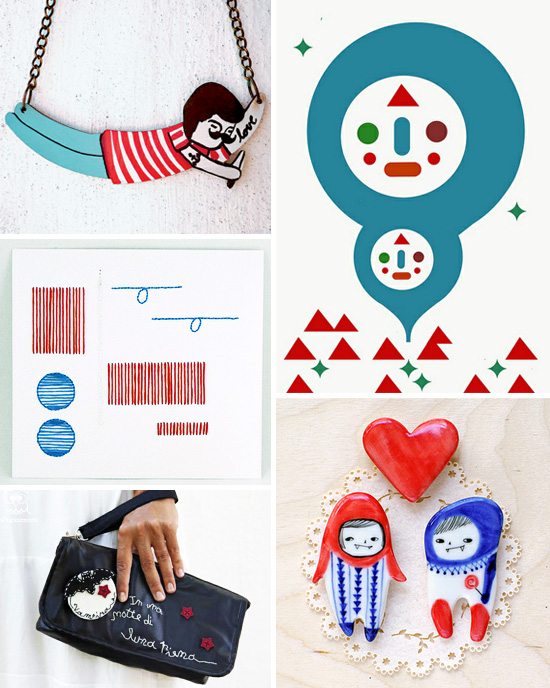 Red and blue handmade collection Imaginative Bloom Flickr group picks  IB Flickr group picks: Red and Blue