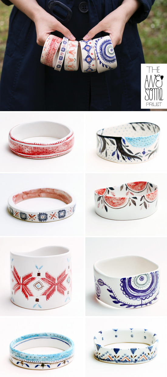 Handmade porcelain bangles by The Awesome Project The Awesome Project – Handmade porcelain journey from Romania