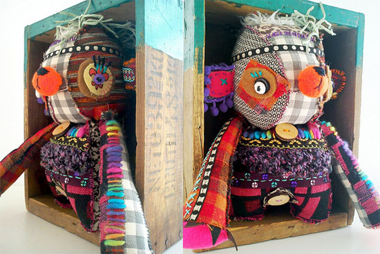 Joao Gilberto Duplo by Aline Tercete Fabric doll  IB Flickr group picks: Imaginary eyes to hug