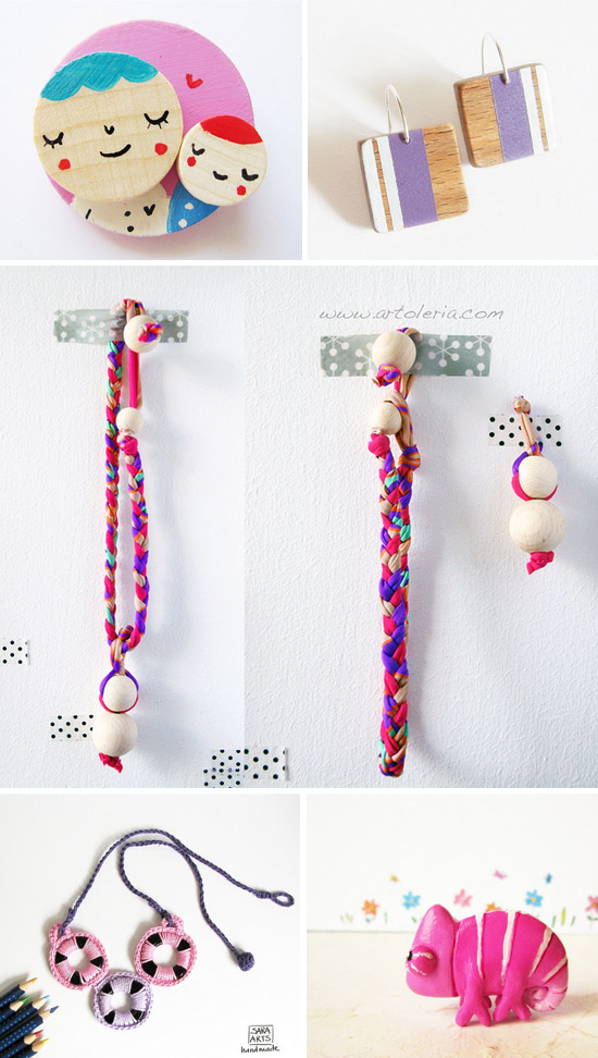 Violet and Pink handmade creations Collection hand picked at Imaginative Bloom  IB Flickr Group picks: Violet and Pink