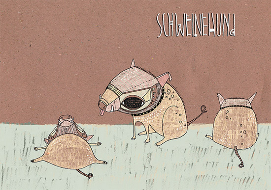 schweinehund illustration by ju hu  IB Flickr group picks: Draw Draw Draw!
