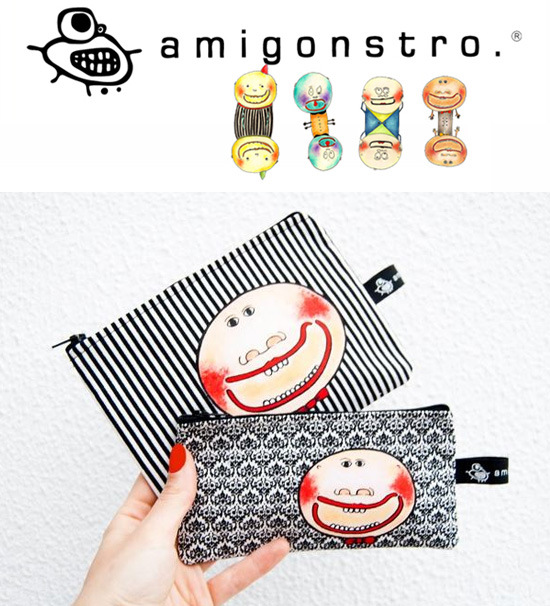 Amigonstro handmade purses  Amigonstro, accessories with puppets.