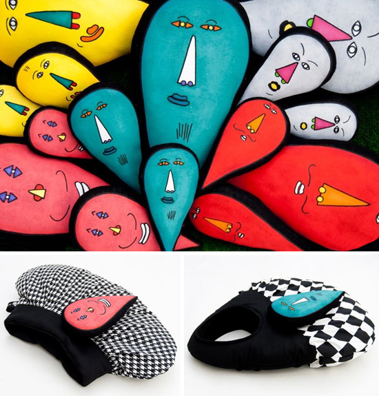Handbags and clutched by Amigonstro  Amigonstro, accessories with puppets.