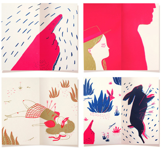 Illustrated screen printed book by Lucille Michieli  Lucille Michieli – Fox masks and screen printed illustrations