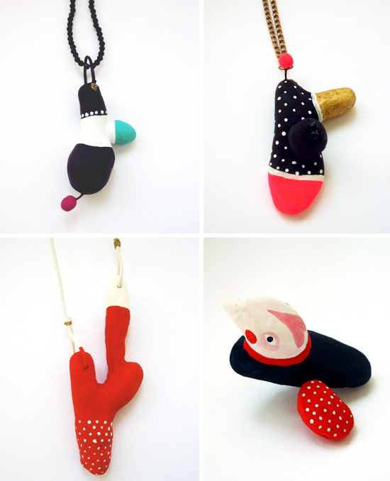 Handmade art necklaces by Aitch  Aitch, another multidisciplinary artist