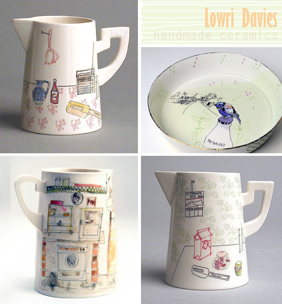 Handmade pottery 2 by Lowri Davies  Handmade + Illustrated ceramics by Lowri Davies