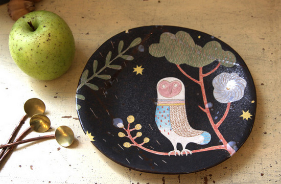 Makoto Kagoshima ceramic plate  Ceramics with a Japanese heart: Makoto Kagoshima