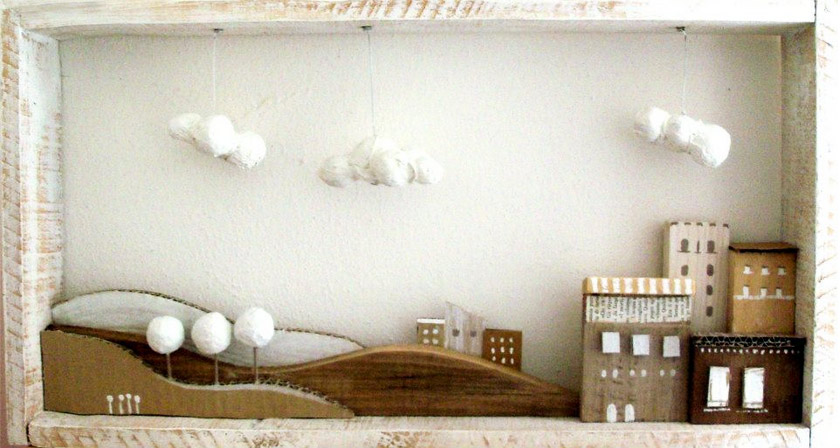 Angela Fattori A volte sogno 3  Wooden and paper dreams by Angela Fattori